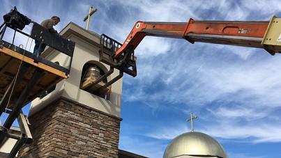 Christ & St George Bell Installation