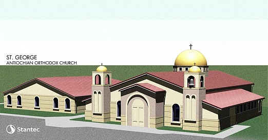 A Rendering of the Future Home of St. George Antiochian Orthodox Church