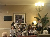 Elementary Class Singing Christmas Carols at a Local Nursing Home
