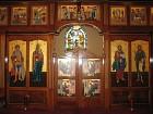 Iconostasis at center: The